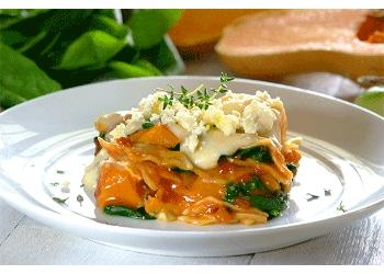 Spinach, Butternut & Feta Lasagne
