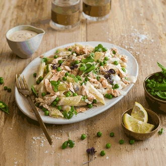 Creamy Salmon and Pea Penne