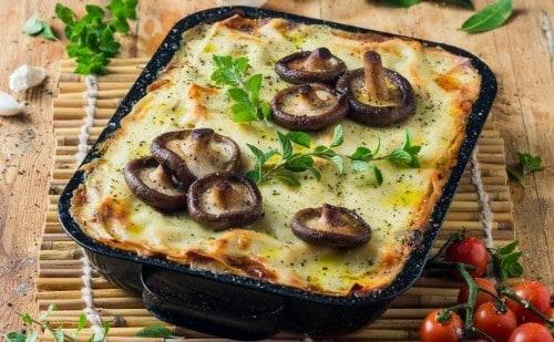 Boerewors, Mushroom and Spinach Lasagne