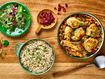 chicken, chickpea and cranberry bake