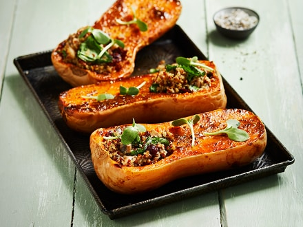 Knorr - Roasted Butternut Stuffed with Quinoa Spinach